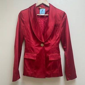 Marciano Guess Red Shiny Satin Jacket